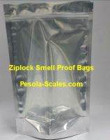 100 Bulk Smell Proof Bag Clear Front and Foil Back Ziplock 250 Gram